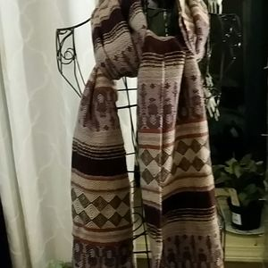 Bohemian style scarf over 2 ft wide and 6 ft long